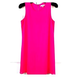 HOT PINK CREPE SHEATH LINED by NOROH SIZE SMALL